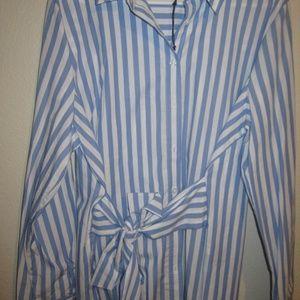 xxl tie front button down shirt